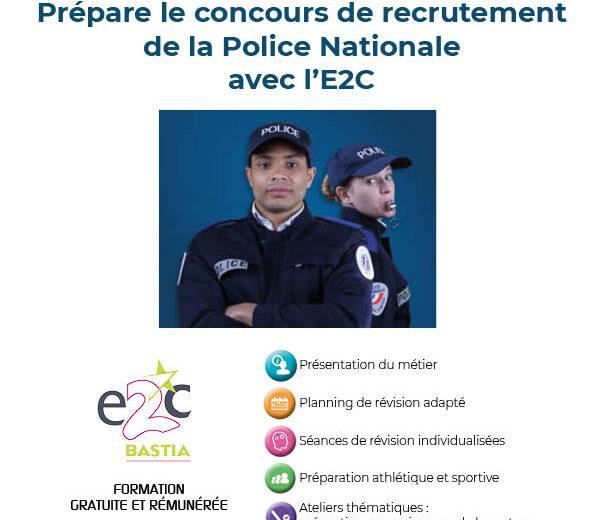 Policier Adjoint : Préparation du concours de recrutement de la Police Nationale avec l'E2C